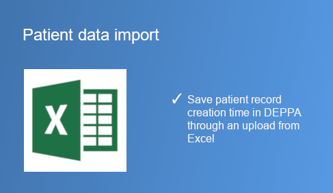 Patient data import from Excel